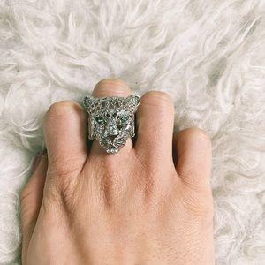 Silver Jaguar Ring